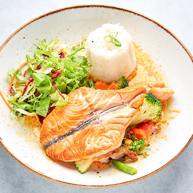 134. Red Salmon Curry